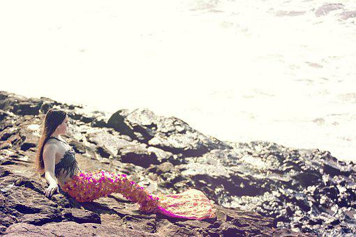 Mermaid, Woman, Sea, Mythology, Creature, Siren, Fish