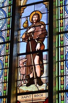 Stained Glass, Colorful, Window, Church, Faith, Saint