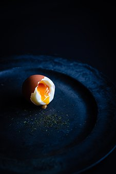 Egg, Yellow, Yolk, Food, Still, Life, Boiled, Plate