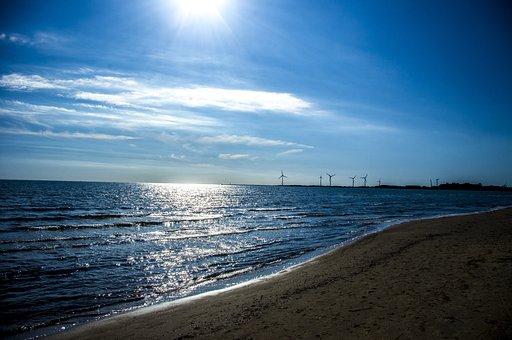 Ocean, Beach, Sky, Sun, Water, Nature, Summer, Coast