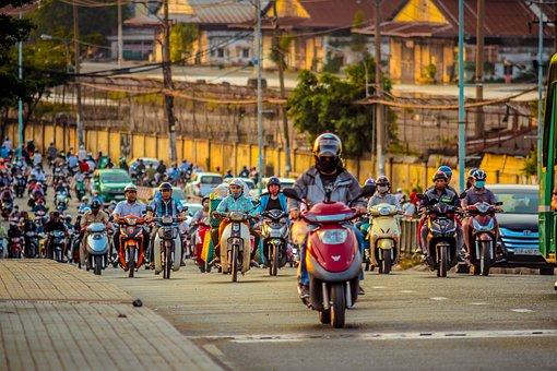 Traffic, Saigon, Vietnam, Ho Chi Minh, City, Motorists