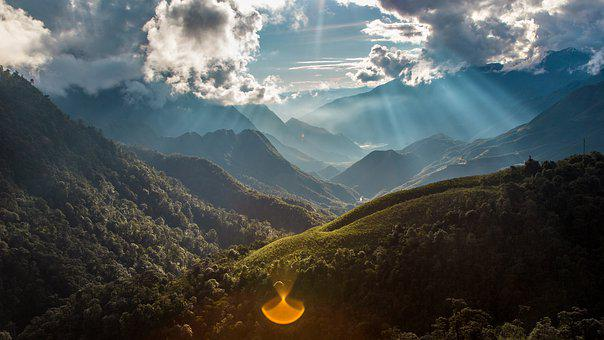 Vietnam, Asia, Nature, Mountains, Hill, Tree, Light