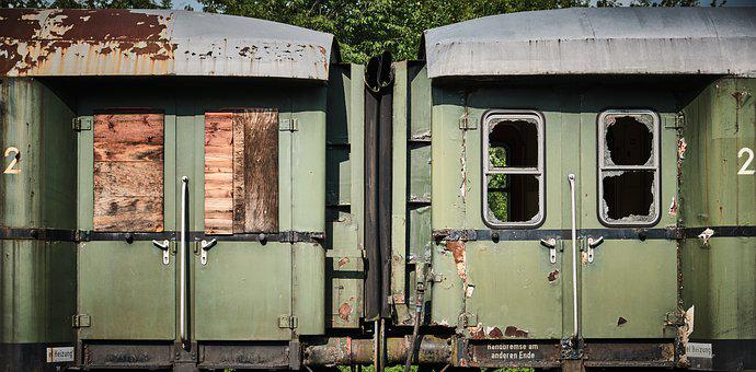 Railway, Wagon, Dare, Train, Rust, Broken, Obsolete