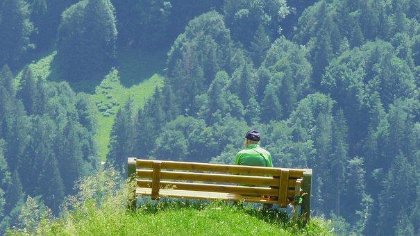 Rest, Wanderer, Break, Hiking, Nature, Landscape