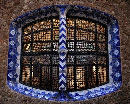 Window, Architecture, Gaudi, Facade, Blue, Nice