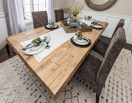 Dining Room, Chairs, Table, Wood, Decor, Interior, Home