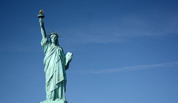 Statue Of Liberty, New York, Usa, America, Monument