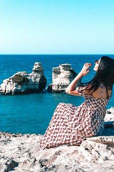 Apulia, Leduesorelle, Torredell'bear, Italy, Sea