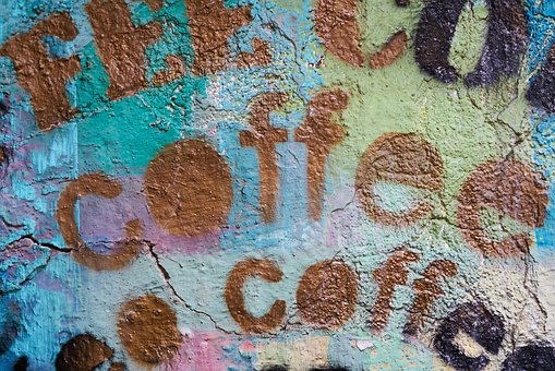 Coffee, Graffiti, Article, Paint, Background, Texture