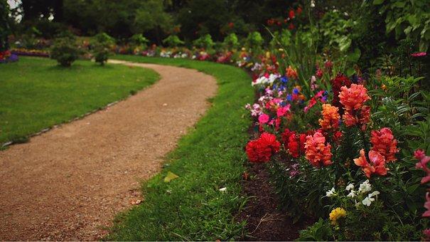 Flower Bed, Away, Path, Babelsberg, Park, Potsdam