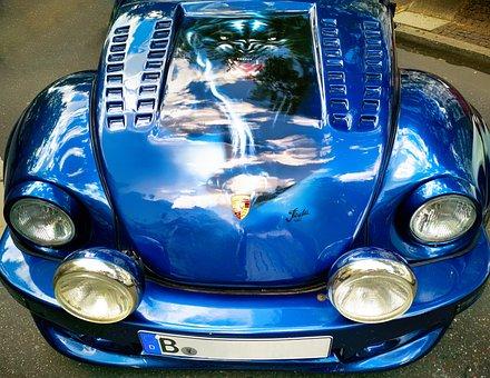 Vw, Beetle, Volkswagen, Tuned, Airbrush, Hood, Auto