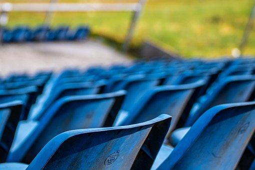 Grandstand, Seats, Blue, Nürburgring, Auditorium