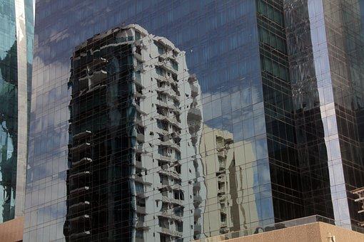 Reflection, Building, City, Urban, Modern, Glass