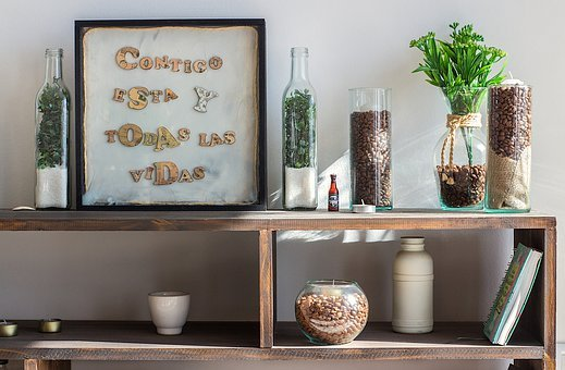 Table, Plant, Coffee, Bottles, Ornaments, House