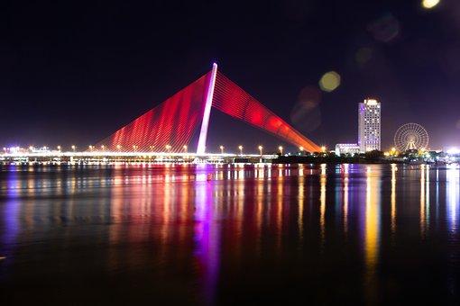 Bridge, Da Nang, Vietnam, Tran Thi Ly Bridge, River