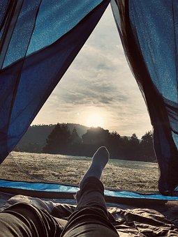 Camping, Summer, Dawn, Holiday, Adventure