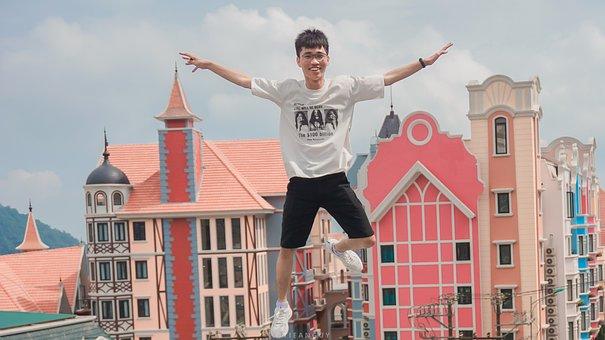 Fly, Boy, Tam Dao, Jump, Float