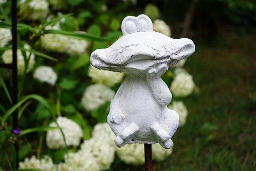 Figure, Frog, Garden, Decoration, White