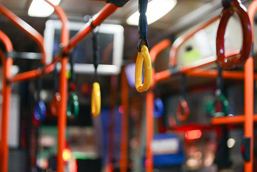 Bus, Handle, Yellow, Orange, Shake