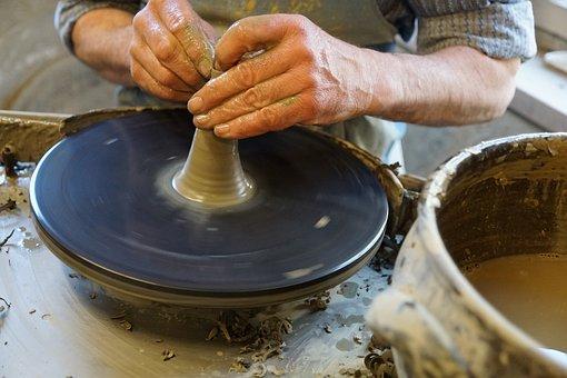 Work, Potters, Hand, Hand Labor, Hobby, Keramikm