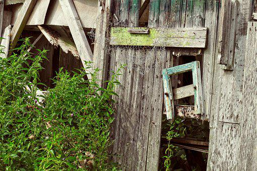 Expired, Barn, Vintage, Old, Leave, Building, Hut