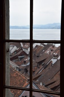 Window, View, Lake, Look, Old Town, Sky, Outside