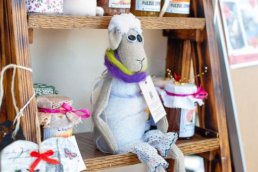 Sheep, Wool, Woolen, Animal, Cute, Toy, White, Model
