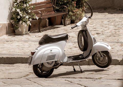 Roller, Motorcycle, Vespa, Motor Scooter, Nostalgia