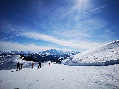 Winter, Austria, Skiing, Snow, Sunshine, Mountains