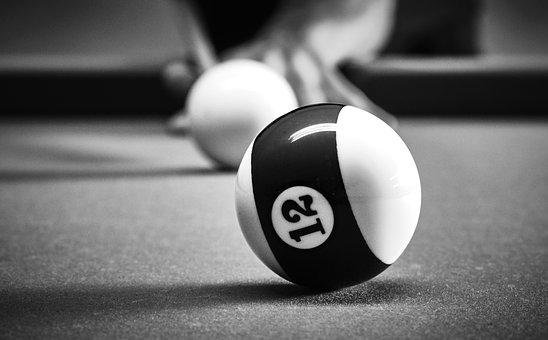Billiards, Ball, Play, Number, Half, Leisure, Table