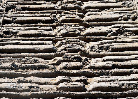 Tractor Tracts, Beach Sand, Sand, Abstract, Pattern