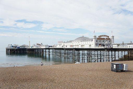 Pier, Brighton, Sea, England, Beach, Coast, Seaside, Uk