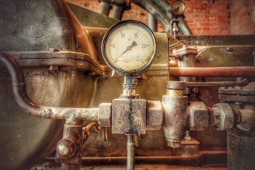 Pressure Gauge, Pressure, Technology, Machine, Old, Ad