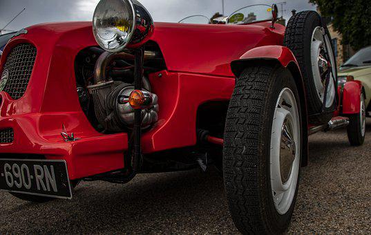 Car, Citroen, Old, Classical, Vintage, Red
