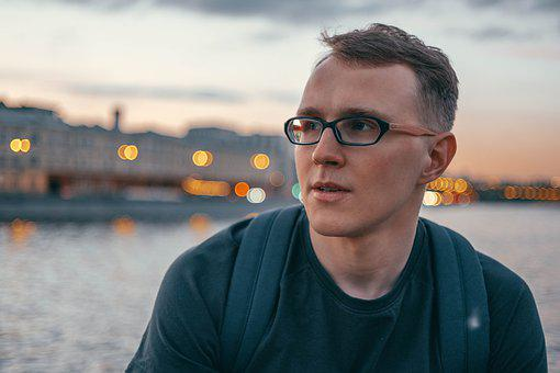 Moscow, Russia, River, Bokeh, Glasses