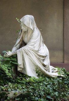 Sculpture, Stone, The Cast, White, Woman, Cape