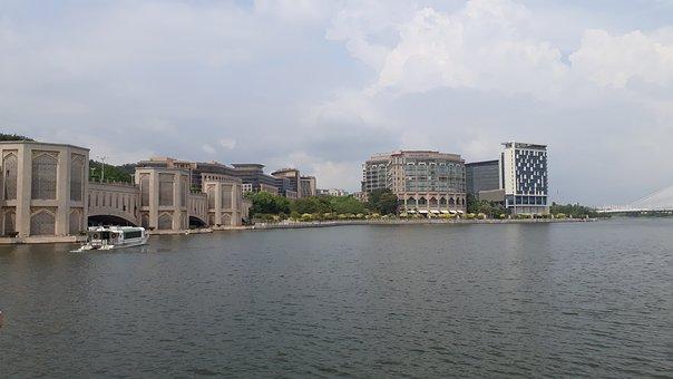 City View, Building, Buildings, Ship, Boat, Lake, Sky