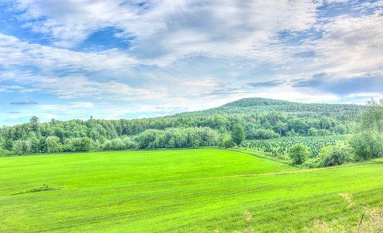 Vermont, Landscape, Green Mountains, Clods, Sky, Nature