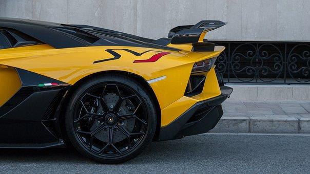 Lamborghini, Aventador, Svj, V12, Supercar, Yellow
