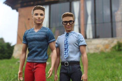 Portrait, Ken, Dolls, Together, Barbie, Cabin, House