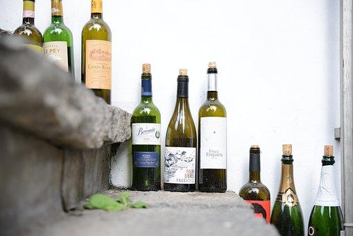 Empty Bottle, Wine Bottle, Stairs, Sapper