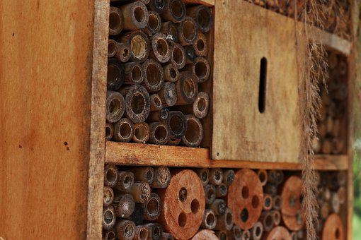 Insect Hotel, Habitat, Brown, Wood