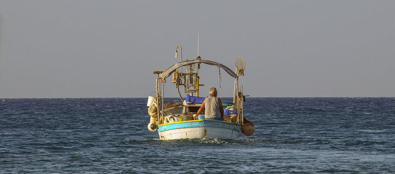 Boat, Fishing Boat, Sea, Fishing Time, Afternoon