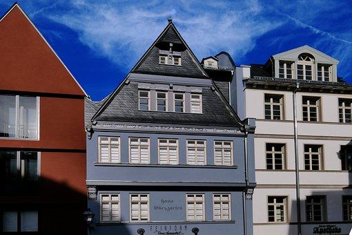 Historic Center, Facade, Frankfurt, Ffm, Architecture
