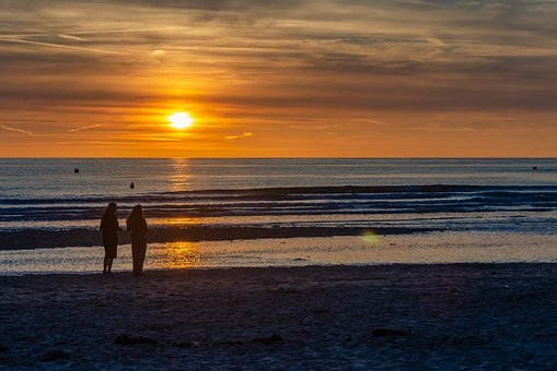 Sunset, Beach, Ocean, Summer, Nature, Sky, Holiday