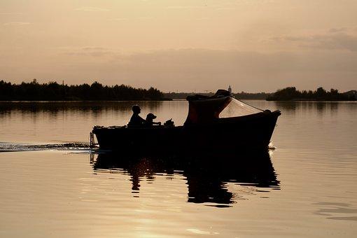 Markkleeberger Lake, Boat, Dog, Leipzig, Water, Animal