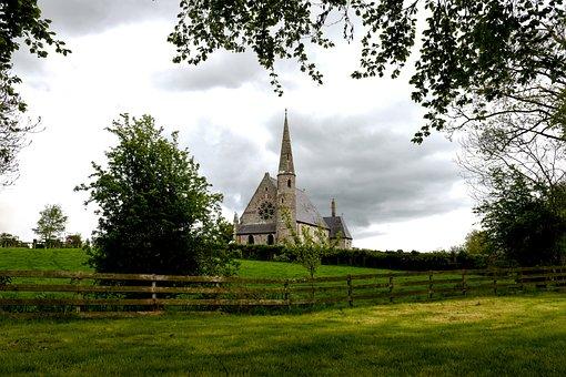 Church Of Ireland, Ballyclog, Scenery, Clouds