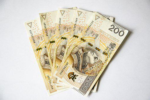 Euro Banknotes, Polish Banknotes, Money, Currency