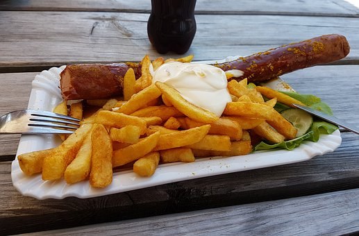 Eat, Currywurst, Ketchup, Nutrition, French, Food