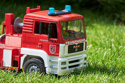 Fire, Toys, Blue Light, Vehicle, Toy Car, Model Car
